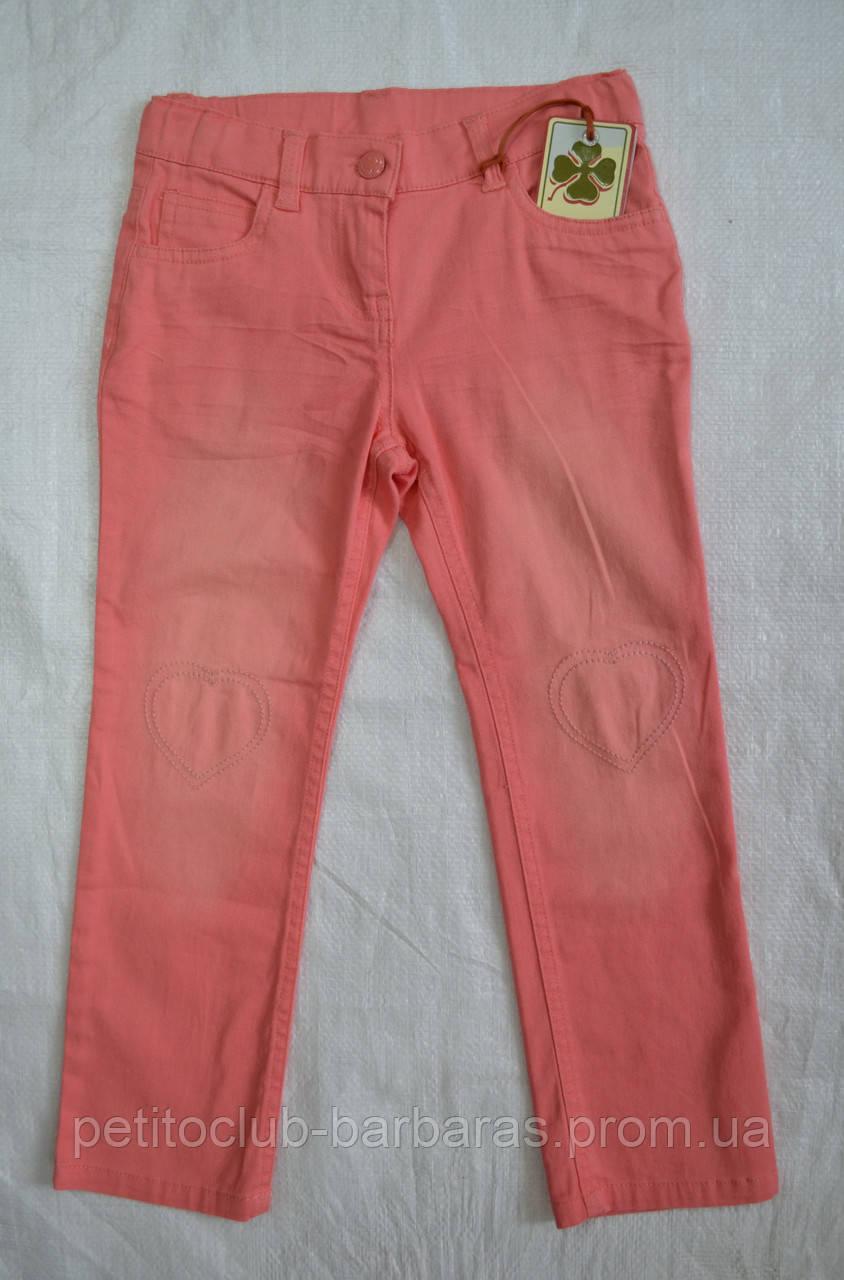 Дитячі літні брюки бавовняні коралові (р. 116-152 см)(QuadriFoglio, Польща)