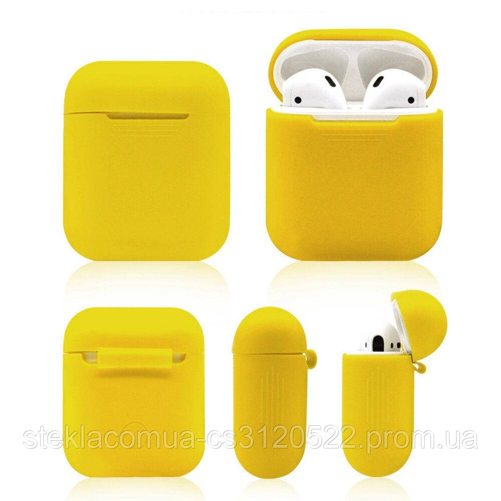 Чехол для наушников AirPods Case Silicone Yellow (Желтый)