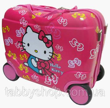 """Чемодан-каталка детский на 4 колесах """"Hello Kitty"""" L"""