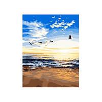 Картина по номерам Закат на побережье 40х50 см
