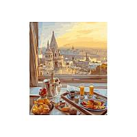Картина по номерам Завтрак с видом 40х50 см