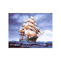Картина по номерам Бригантина в буйном море 40х50 см