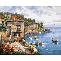 Картина по номерам Лодки в море 40х50 см