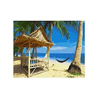 Картина по номерам Райский пляж 40х50 см