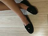 Nona! Супер! Мягкие женские мокасины черного цвета замшевые туфли весна лето Нона, фото 9