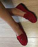 Nona! Супер! Мягкие женские мокасины черного цвета замшевые туфли весна лето Нона, фото 10