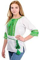 """Женская вышиванка """"Оберег"""" зеленая, фото 1"""