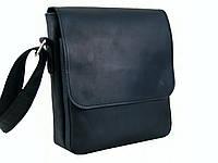 Мужская повседневная кожаная сумка GS черная