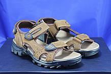 Спортивные подростковые коричневые сандалии на липучках Razor