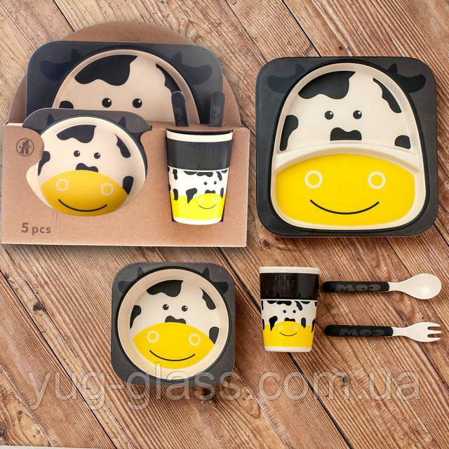 Бмбуковая детская посуда