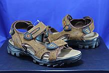 Спортивные подростковые сандалии Razor натуральный нубук коричневые