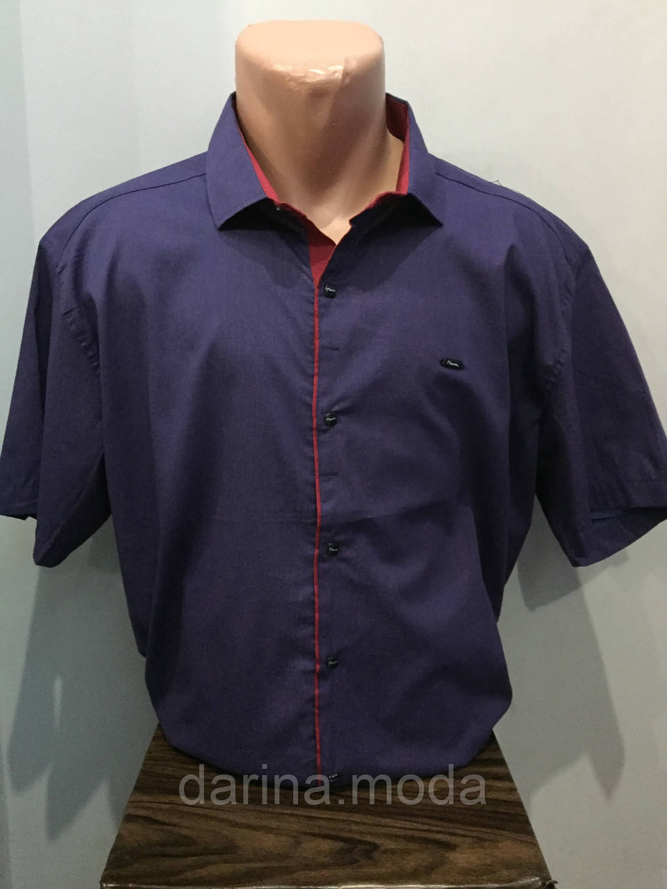 Чоловіча сорочка батал на кнопках 3XL
