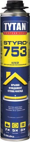 Пена-клей TYTAN О2 Styro 753 полиуретановая 750 мл