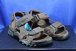 Спортивные подростковые сандалии Razor натуральный нубук  тёмно коричневые, фото 2