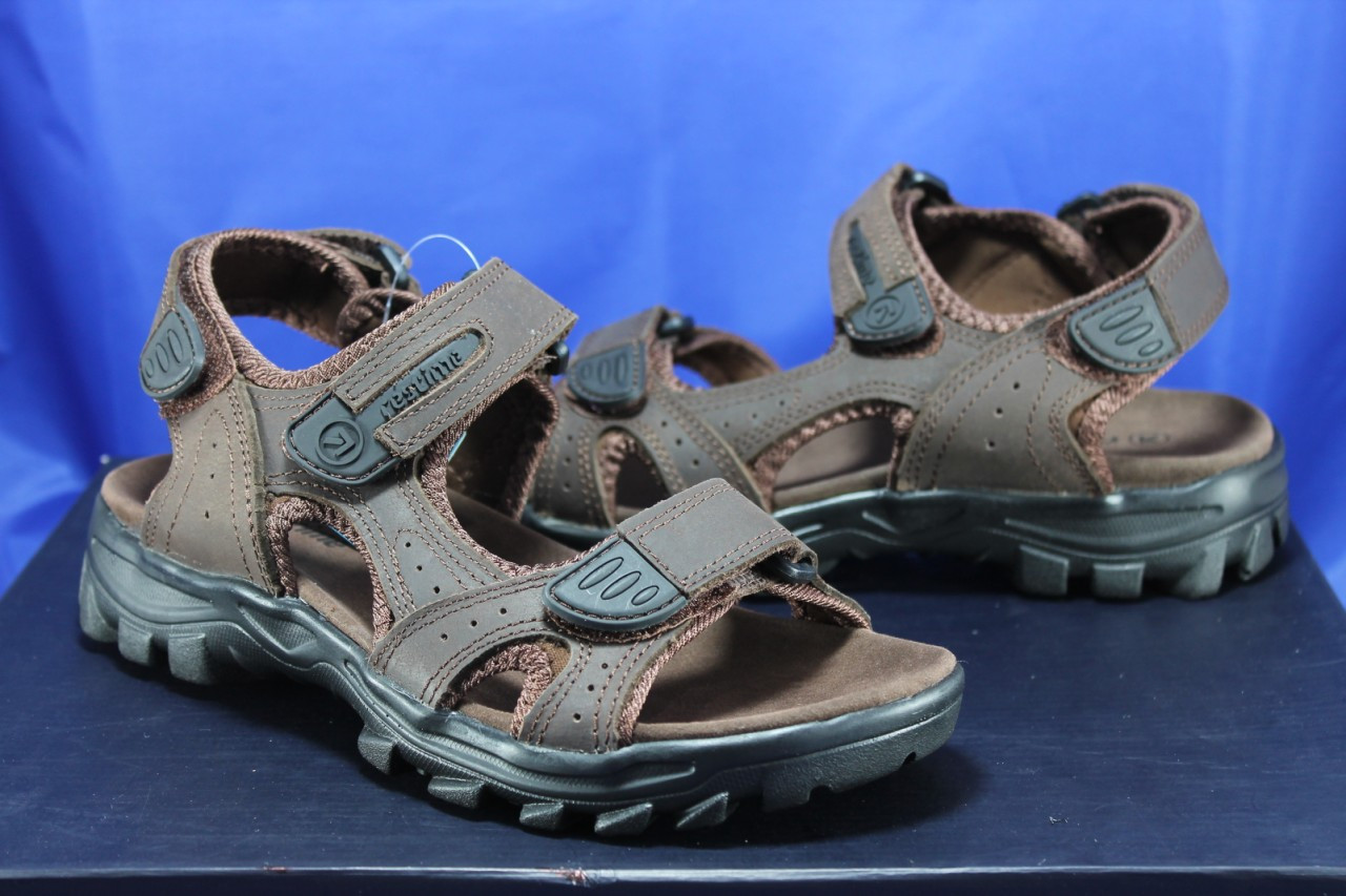 Спортивные подростковые сандалии Razor натуральный нубук  тёмно коричневые