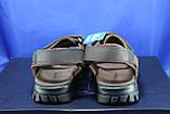 Спортивные подростковые сандалии Razor натуральный нубук  тёмно коричневые, фото 3
