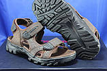 Спортивные подростковые сандалии Razor натуральный нубук  тёмно коричневые, фото 4