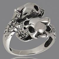 Перстень с черепом мужской из серебра арт. 313к