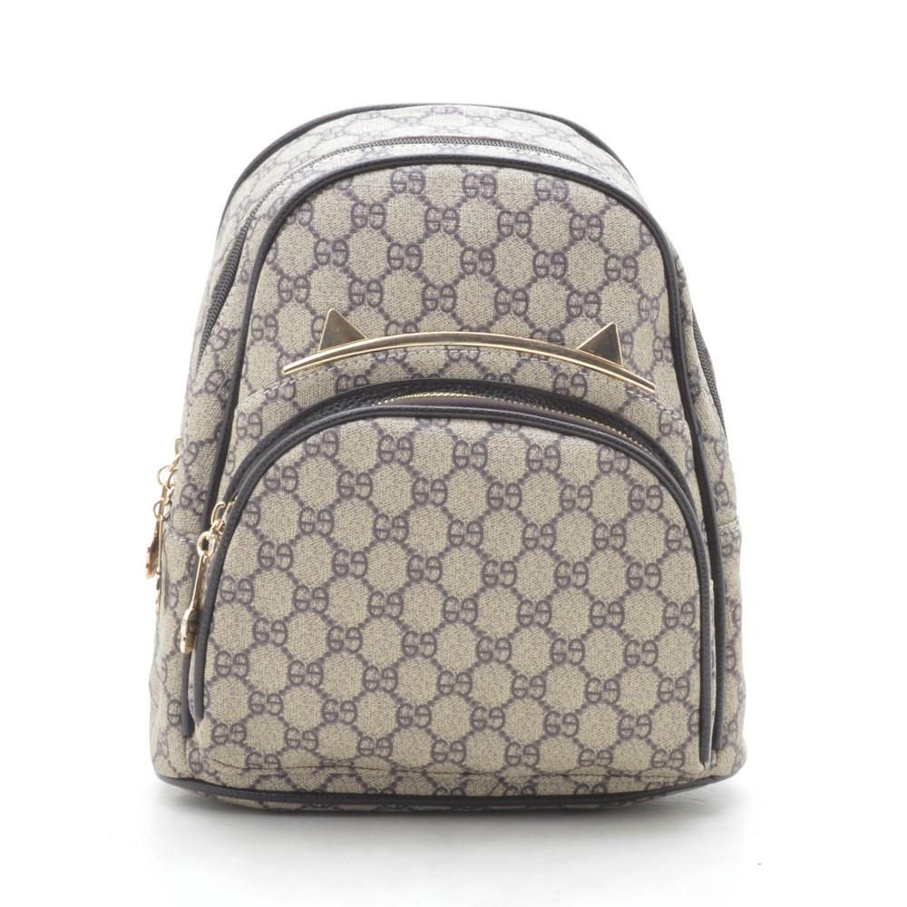 Рюкзак женский серо коричневый 178361