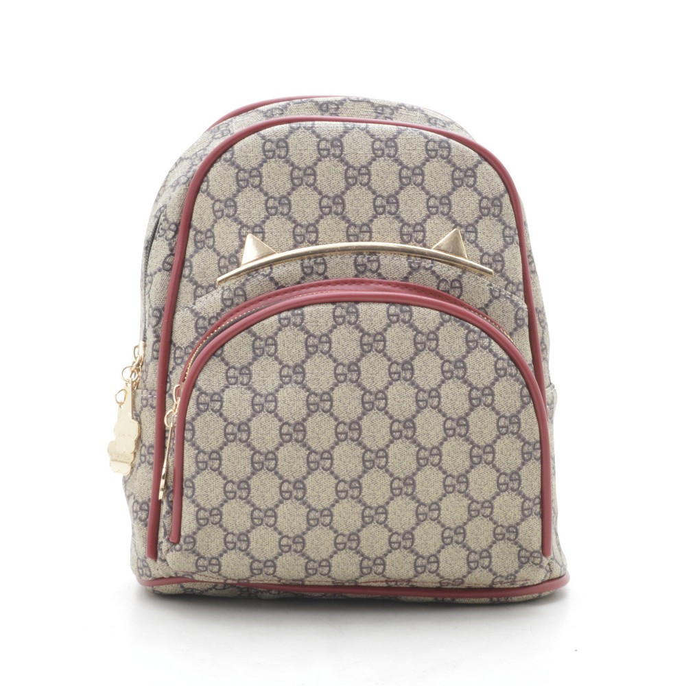 Рюкзак женский серый с красным 178368