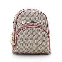 Рюкзак женский серый с красным 178368, фото 1