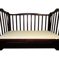 Матрас льняной в кроватку (ткань хлопок) размер 60х120х5 см., кремовый