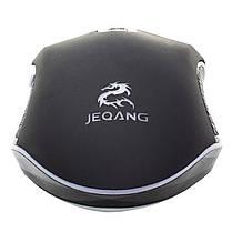 ◯Дротова миша JEQANG JM-1942 Black LED підсвічування оптична комп'ютерна 1600 dpi мишка для ПК, фото 3
