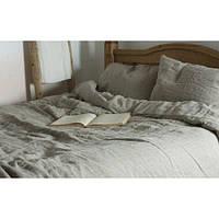 Комплект постельного белья Семейный, полулен, серый