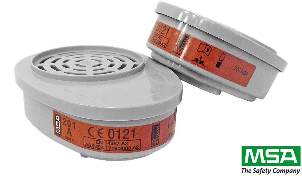 Фильтры-поглотители для полумасок MSA-PO-A2 -Швейцария