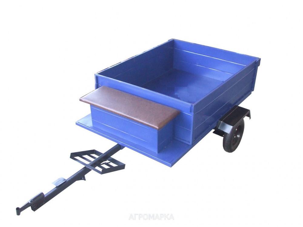 Прицеп-самосвал(эконом) с тормозами, размер кузова (1050Х1250) грузоподъемность до 350 кг с колесами