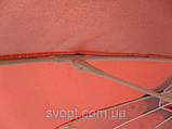 Зонт круглый (3м) с серебряным напылением и клапаном на 16 пластиковых спиц, фото 3