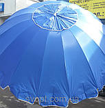 Зонт торговый 3x3м с серебряным напылением и клапаном, фото 3