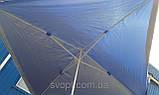 Торговый зонт 2x3м с серебряным напылением и клапаном, фото 3