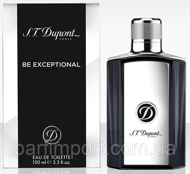 DUPONT BE EXCEPTIONAL EDT 100 ml  туалетная вода мужская (оригинал подлинник  Франция)