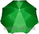 Зонт круглый (2,5м) с серебряным напылением, фото 2
