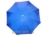 Зонт круглый (2,5м) с серебряным напылением, фото 3