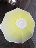 Зонт пляжный с наклоном и клапаном (брезентовый) 1,55м, фото 2