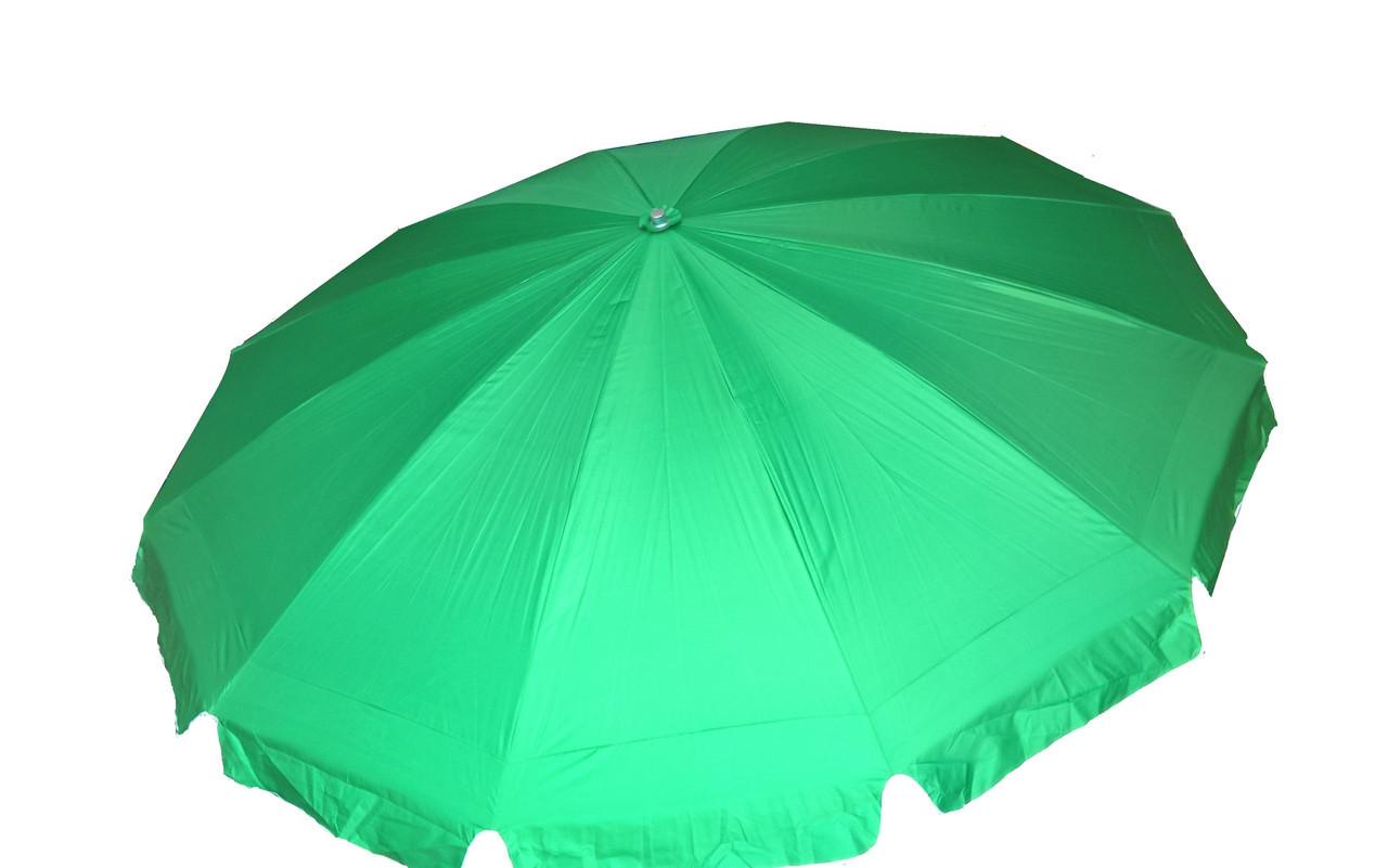 Зонт торговый 3,5м (12 пластиковых спиц)с серебренным напылением