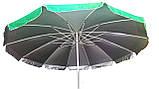 Зонт торговый 3,5м (12 пластиковых спиц)с серебренным напылением, фото 3