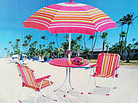 Набор мебели для пикника детский: столик с зонтом и 2 стула, фото 1