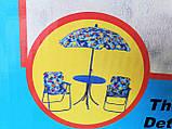 Набор мебели для пикника детский: столик с зонтом и 2 стула, фото 4