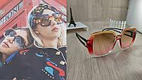Большие женские солнцезащитные очки Style - красные с переходом