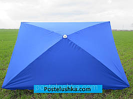Зонт для сада, пляжа квадратный 2х3 м с серебряным напылением цвета в ассортименте