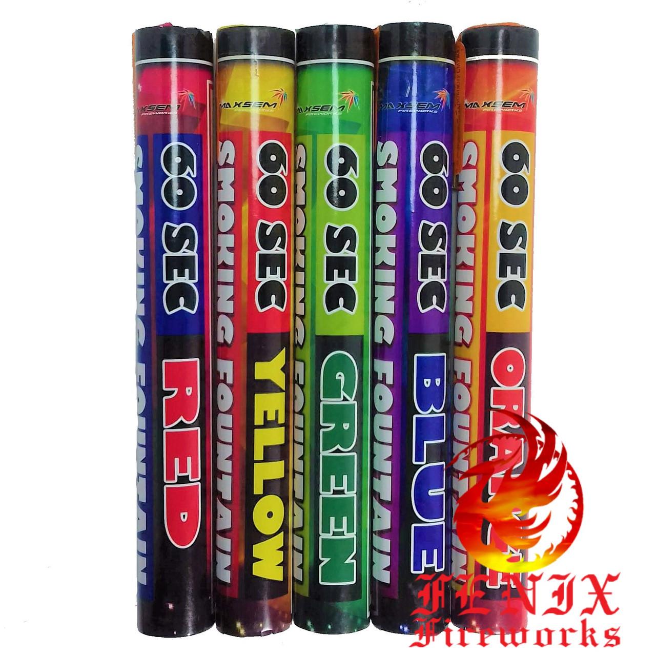 ЦВЕТНОЙ ДЫМ MIX 5 ЦВЕТОВ (Ручная дымовая шашка) Smoke Bombs 60 секунд MA0512/MIX