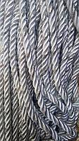Декоративный шнур для натяжных потолков, БЕЛЫЙ С СЕРЕБРОМ 10 мм (50ярд)