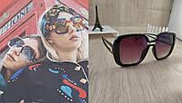 Большие женские солнцезащитные очки Style - черные с переходом цвета