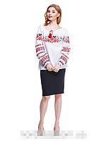 """Рубашка вышиванка женская """"Маки крестиком""""( В.О.В.), фото 1"""