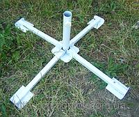 Подставка для садового зонта крестовая сталь