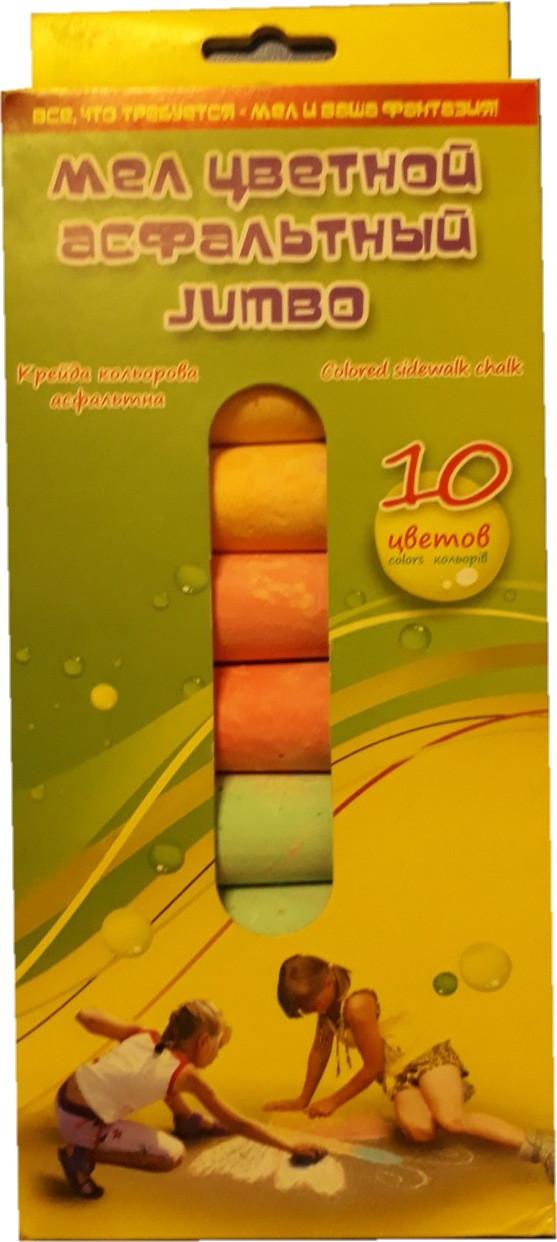 Мел цветной круглый 10 цветов Jumbo Kidis 7413, 386805