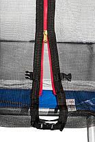 Батут Atleto 374 см с двойными ногами с сеткой синий (2 места) , фото 3